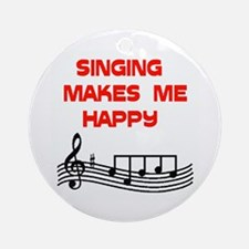 HAPPY SINGER Ornament (Round)