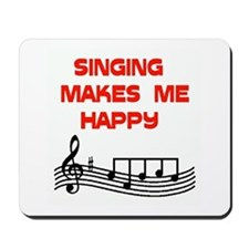HAPPY SINGER Mousepad