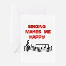 HAPPY SINGER Greeting Card