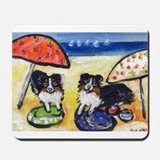 Australian Shepherds at the b Mousepad