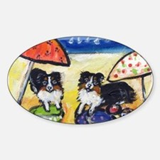 Australian Shepherds at the b Oval Decal