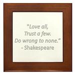 Love all Framed Tile