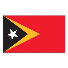 East Timor Country Flag Rectangle Decal