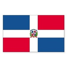 Dominican Republic Country Flag Decal