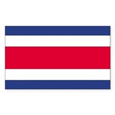 Costa Rica Country Flag Rectangle Decal