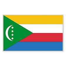 Comoros Country Flag Rectangle Decal