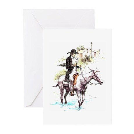 Strolling Preacher Greeting Cards (Pk of 10)