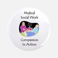"""Medical Social Work 3.5"""" Button (100 pack)"""