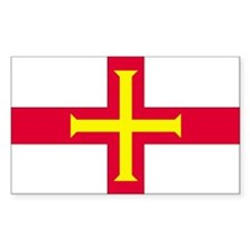 Guernsey Country Flag Rectangle Stickers