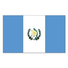 Guatemala Country Flag Rectangle Decal