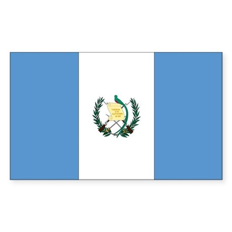 Guatemala Country Flag Rectangle Sticker