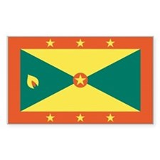 Grenada Country Flag Rectangle Decal