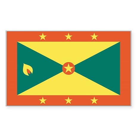 Grenada Country Flag Rectangle Sticker