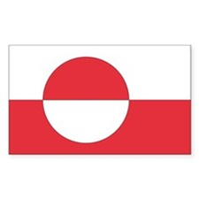 Greenland Country Flag Rectangle Decal