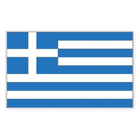 Greece Country Flag Rectangle Decal by intrepid travel