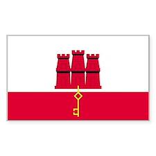 Gibraltar Country Flag Rectangle Decal