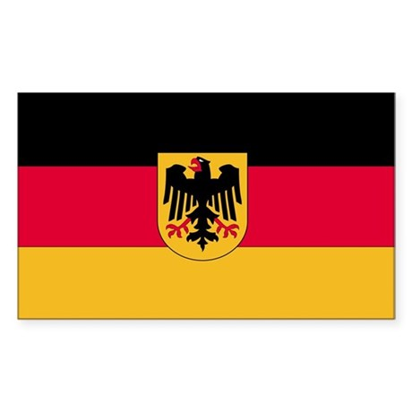 Germany Country Flag Rectangle Sticker