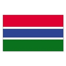 Gambia Country Flag Rectangle Decal