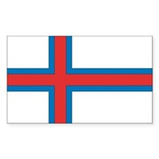 Faroe Islands Flag Rectangle Decal