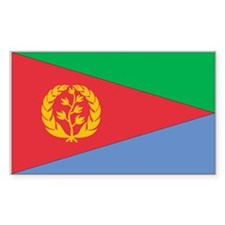 Eritrea Country Flag Rectangle Decal
