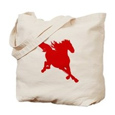 Wild Red Horse Picture Tote Bag