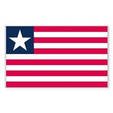 Liberia Country Flag Rectangle Decal