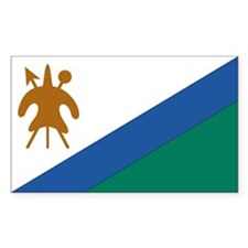 Lesotho Country Flag Rectangle Decal