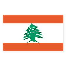 Lebanon Country Flag Rectangle Decal