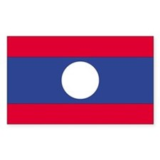 Laos Country Flag Rectangle Decal