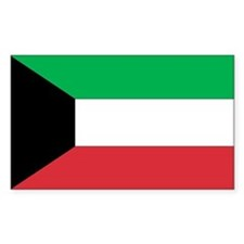 Kuwait Country Flag Rectangle Decal