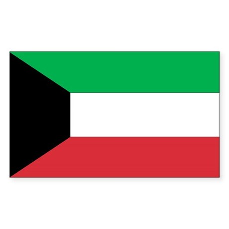 Kuwait Country Flag Rectangle Sticker