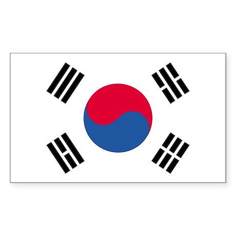 Korea, South Country Flag Rectangle Sticker