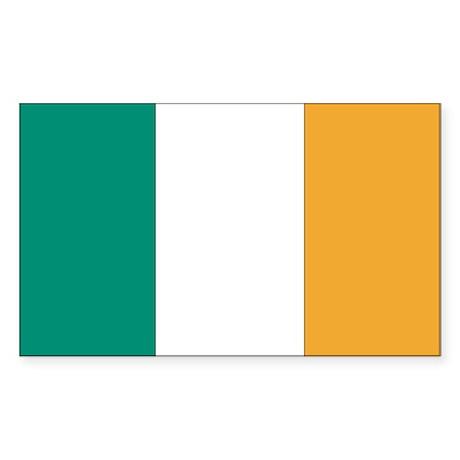 Ireland Country Flag Rectangle Sticker