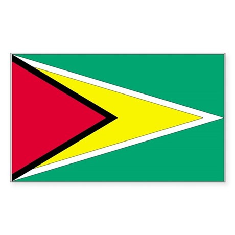 Guyana Country Flag Rectangle Sticker
