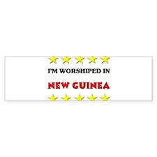I'm Worshiped In New Guinea Bumper Bumper Sticker