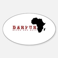 Darfur Needs Our Help Oval Decal