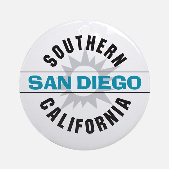 San Diego California Ornament (Round)