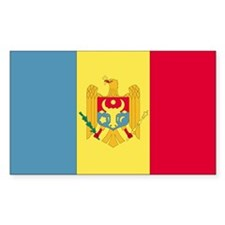 Moldova Country Flag Rectangle Decal