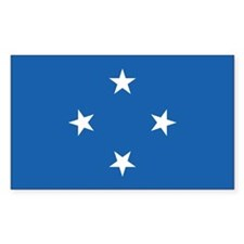 Micronesia Country Flag Rectangle Decal