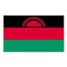 Malawi Country Flag Rectangle Decal