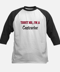 Trust Me I'm a Contractor Kids Baseball Jersey