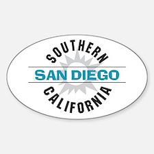 San Diego California Sticker (Oval)