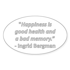 Happiness is good health Oval Decal