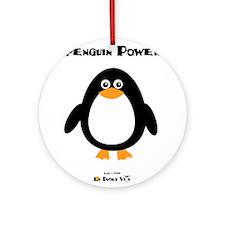 Penguin Power Ornament (Round)