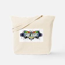 Saint Albans (White) Tote Bag