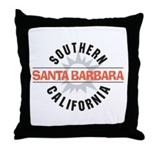 Santa Barbara California Throw Pillow