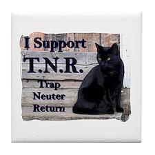 I Support TNR Tile Coaster