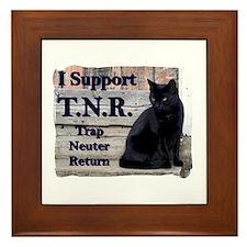I Support TNR Framed Tile