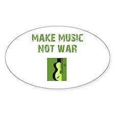 Make Music Not War Oval Decal