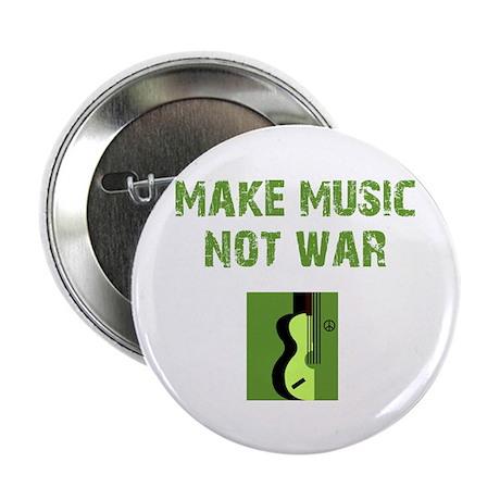"""Make Music Not War 2.25"""" Button (10 pack)"""